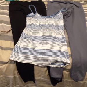 Pants - Work out bundle 2 yoga pants and shirt size small